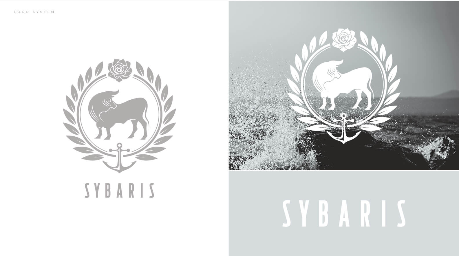 Sybaris logo system and branding by Jacober Creative