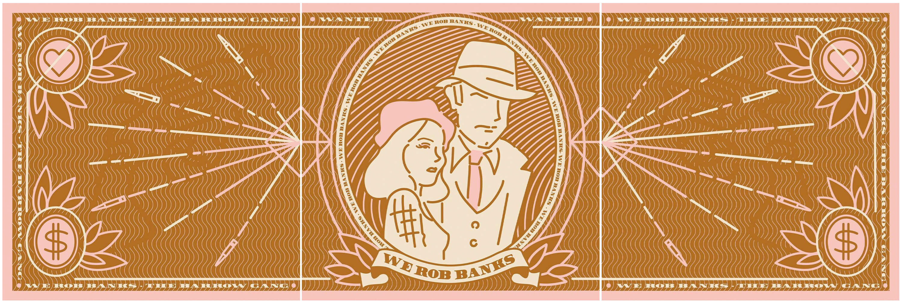 Jacober Creative IRL In Reel Life Bonnie & Clyde Illustration