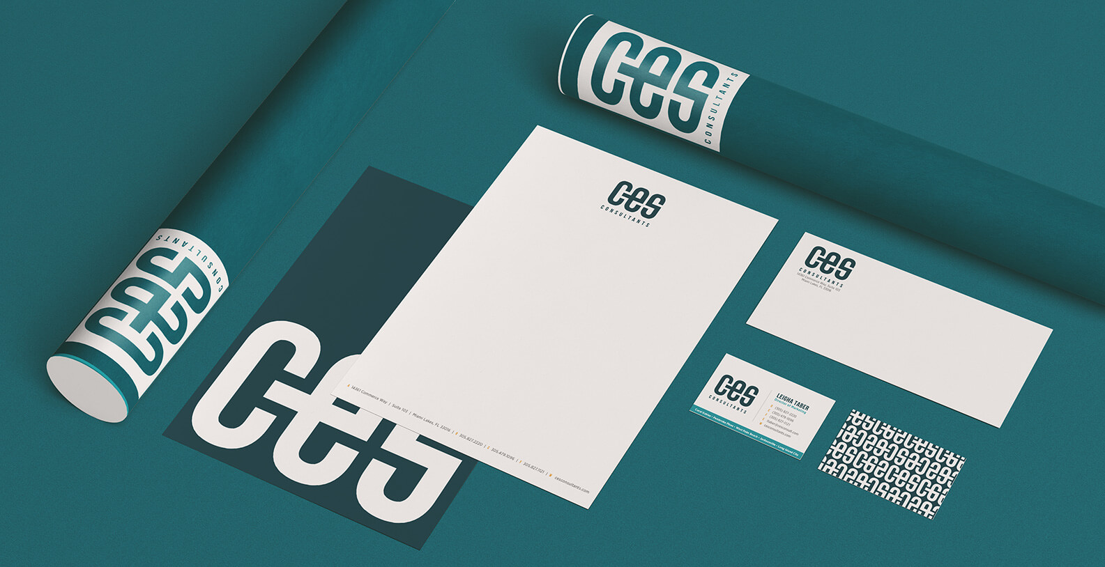 CES Consulting branded stationery by Jacober Creative
