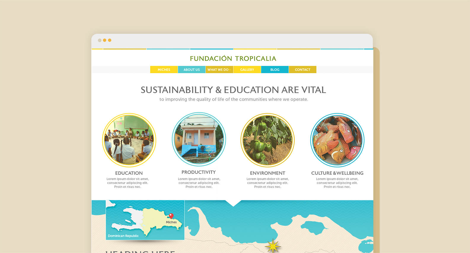 Tropicalia website design by Jacober Creative