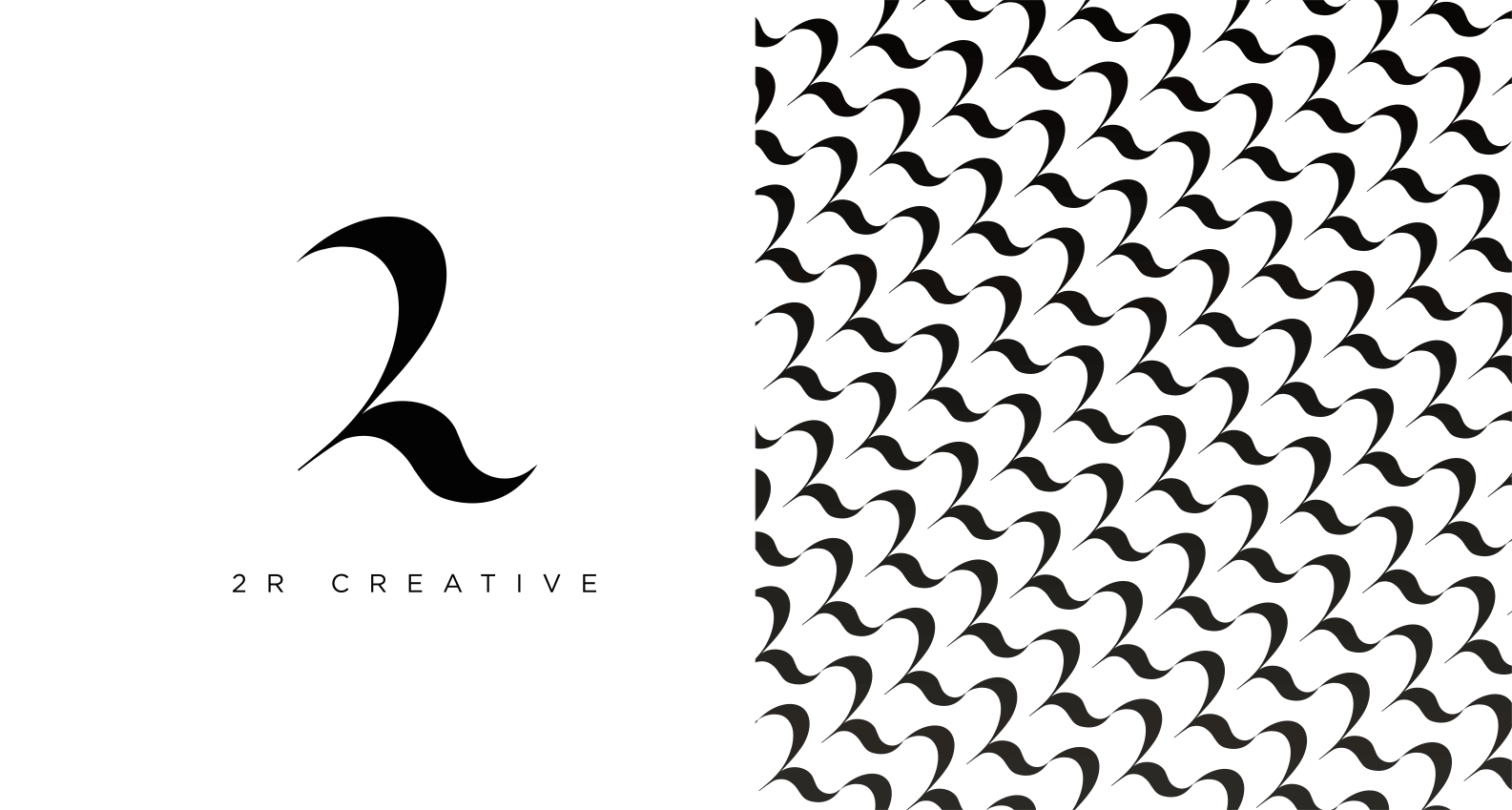 2R logo design and pattern by Jacober Creative