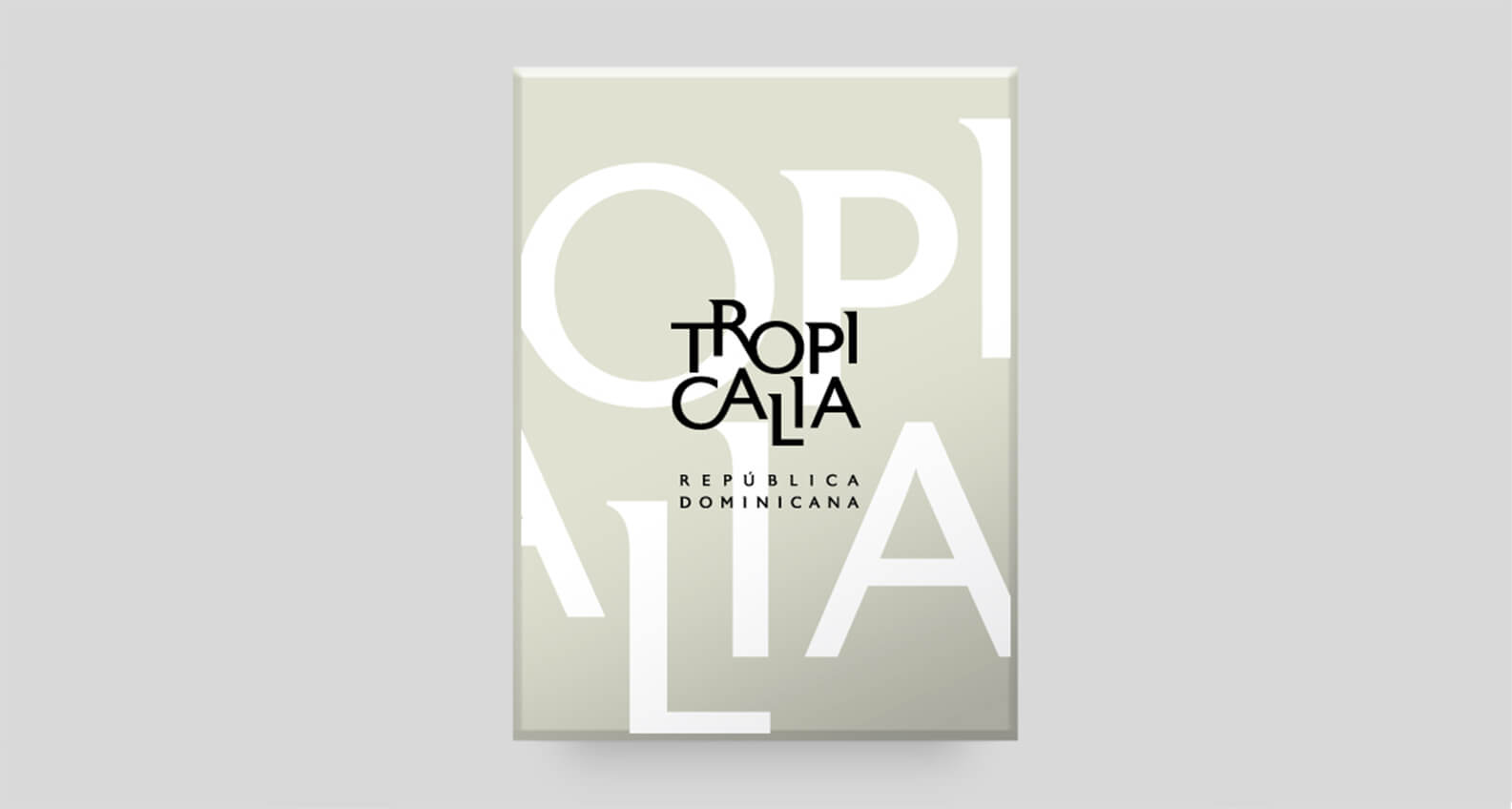 Tropicalia book cover design by Jacober Creative