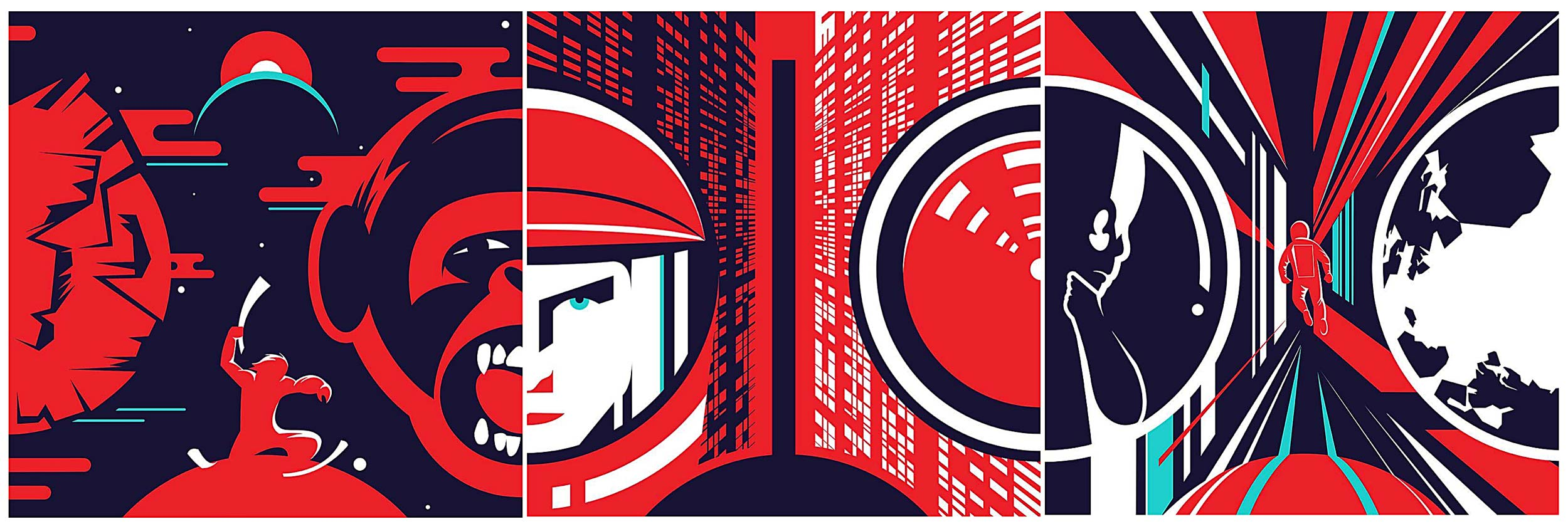 IRL - In Reel Life - A Space Odyssey illustration