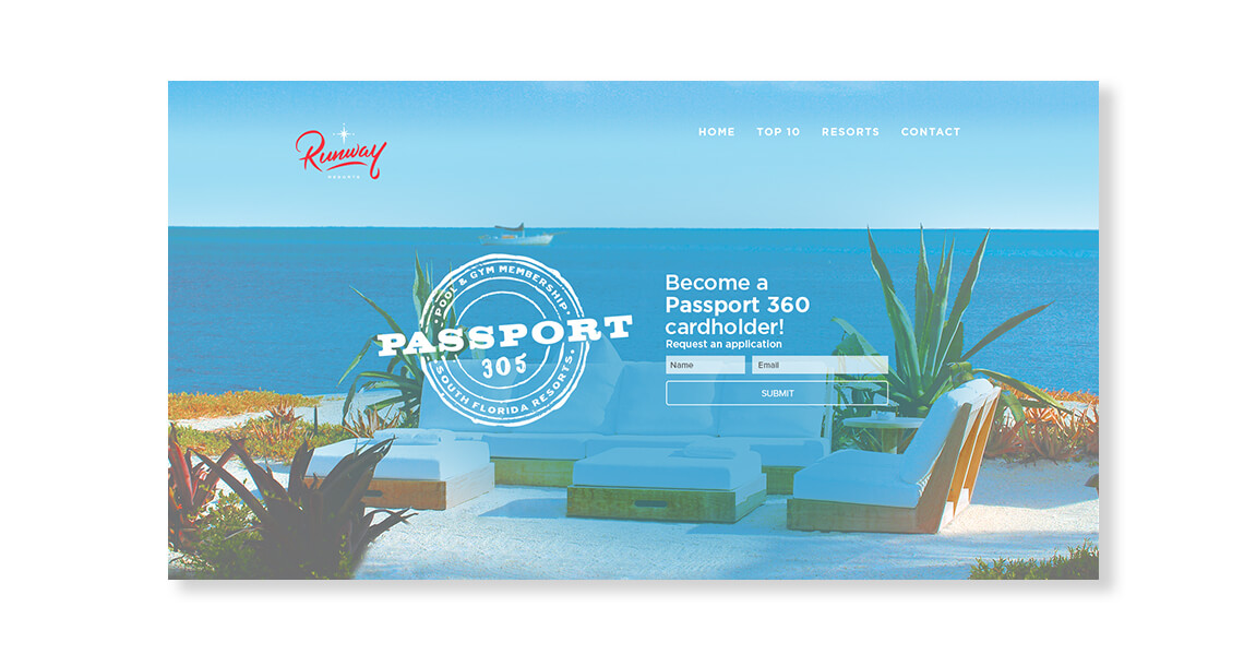 Runway Website Landing page by Jacober Creative