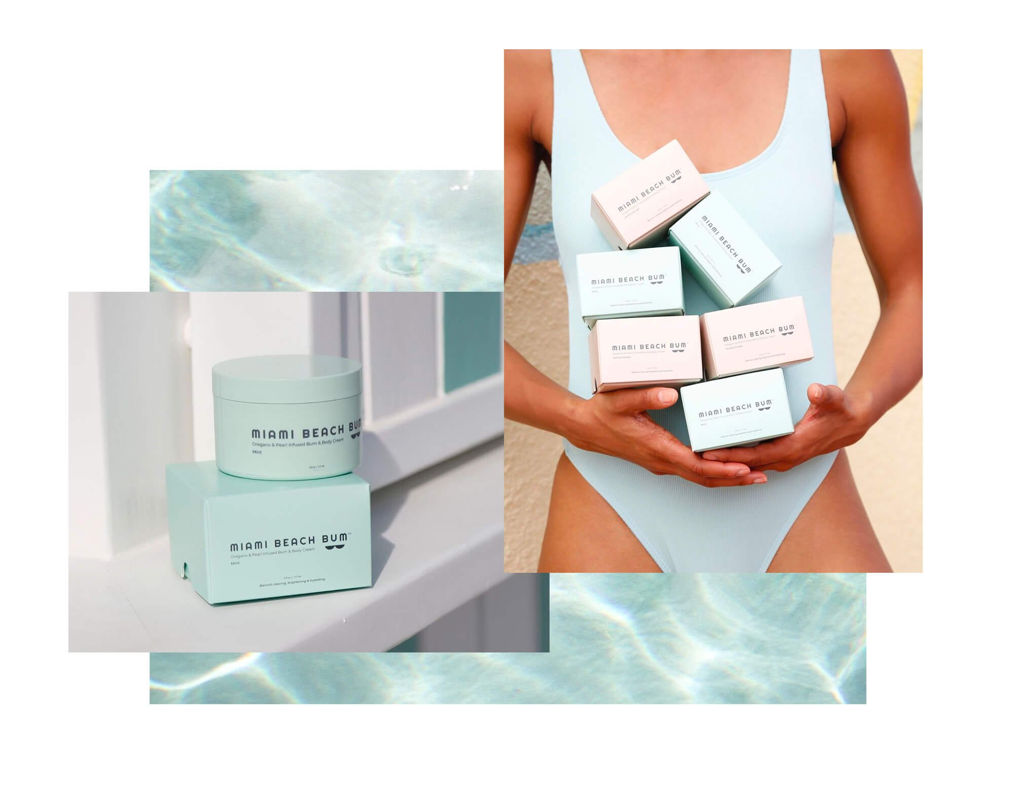 Jacober Creative Brand Identity for Miami beach Bum. Photo of lifestyle photography and packaging design