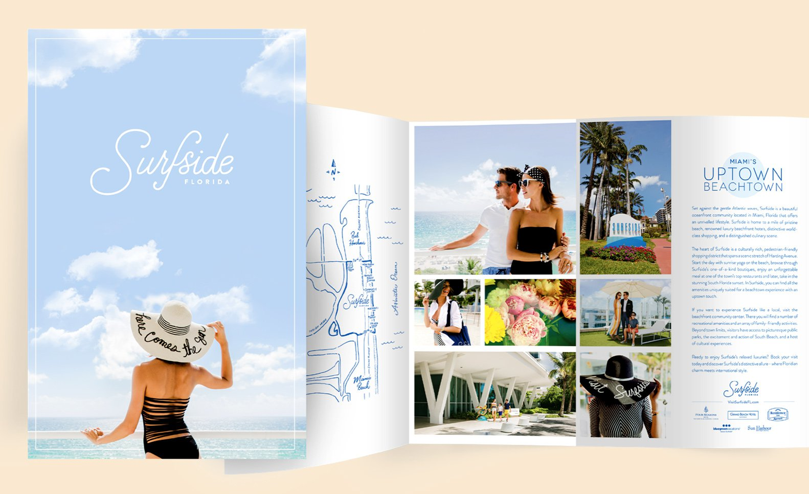Jacober Creative Identity and Campaign for the Town of Surfside Florida - Photo of custom printed brochure
