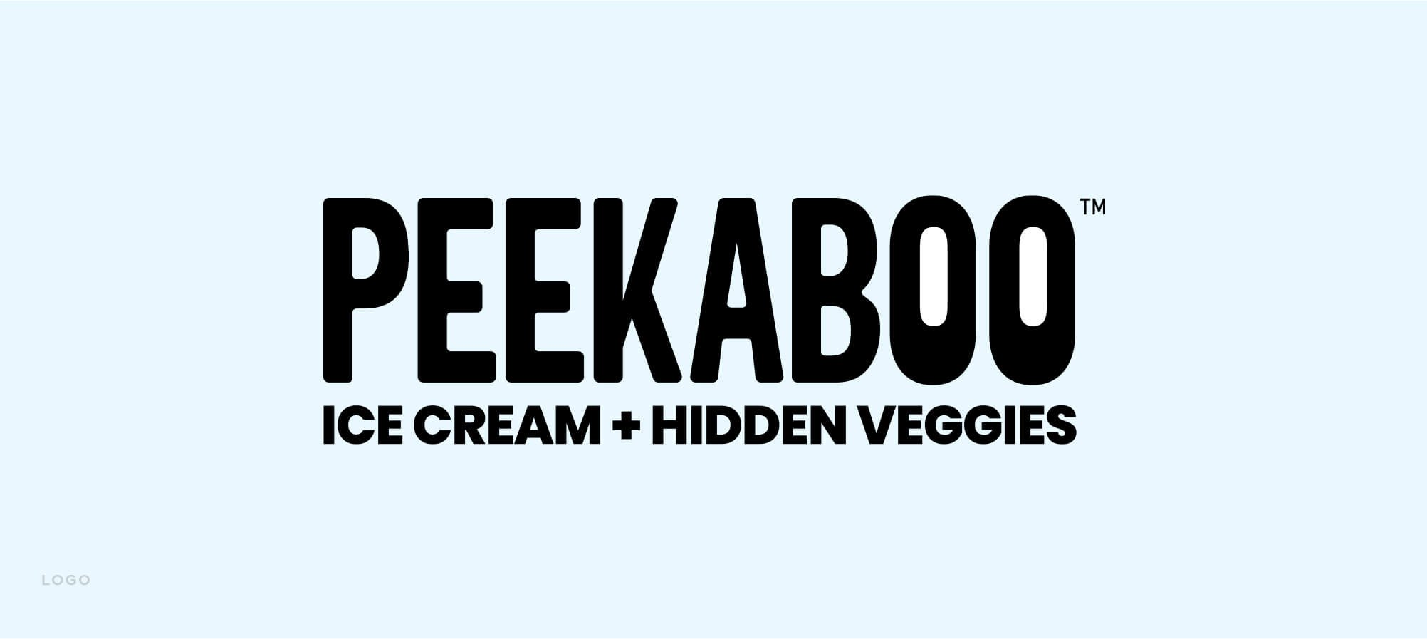 Jacober rebranding of Peekaboo Ice Cream. Photo of new  logo