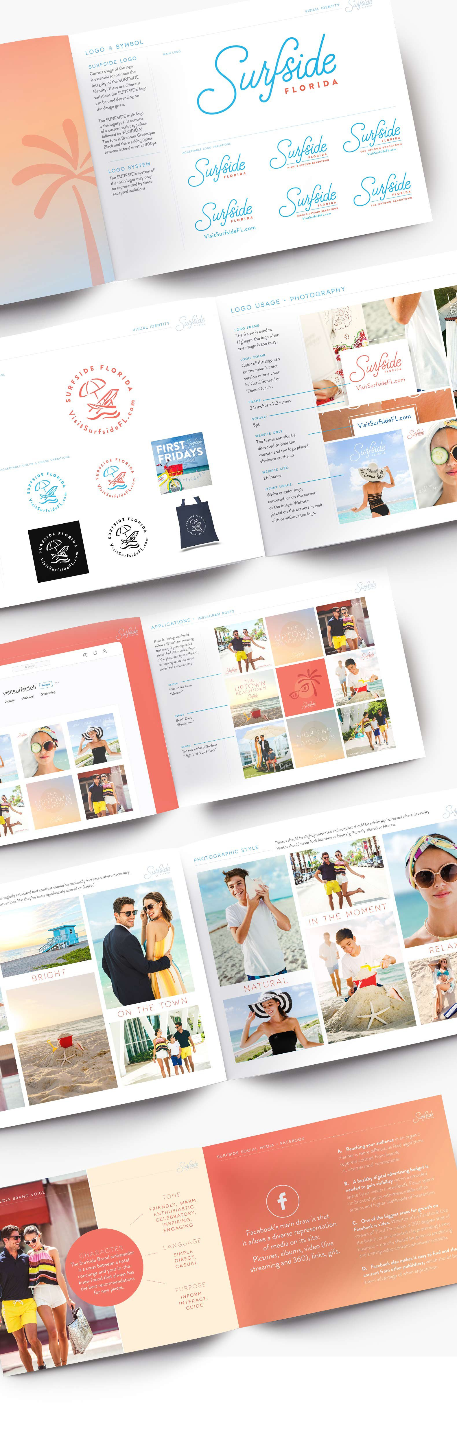 Jacober Creative Identity and Campaign for the Town of Surfside Florida - Photo of branding guidelines