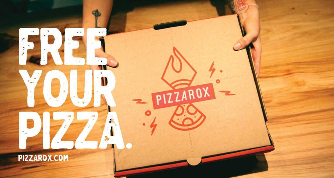 Pizza Rox delivery box design