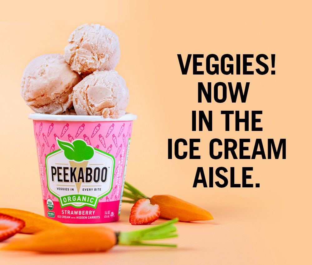 "Peekaboo, a new Miami-based startup that marries healthy eating with delicious desserts (ice cream with ""hidden veggies"") came to Jacober Creative for all their marketing needs."