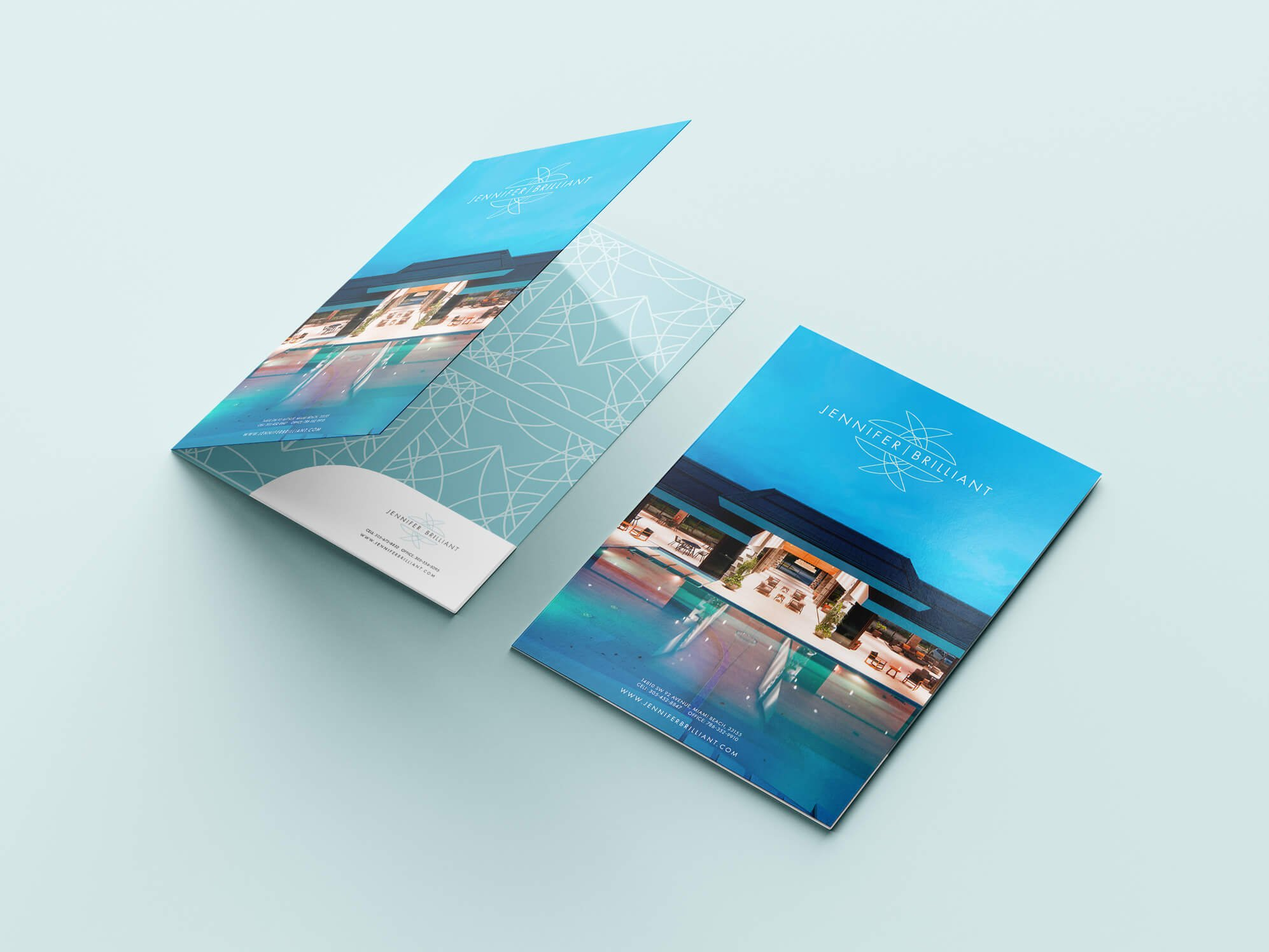 Jacober Creative folder design for Realtor Jennifer Brilliant