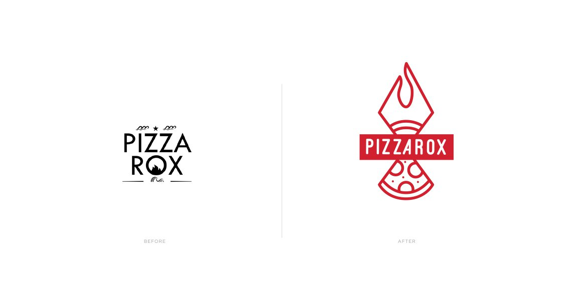 Pizza Rox rebranded logo by Jacober Creative