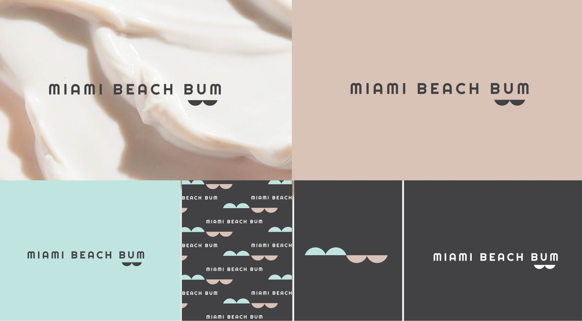 Miami Beach Bum Logo variations