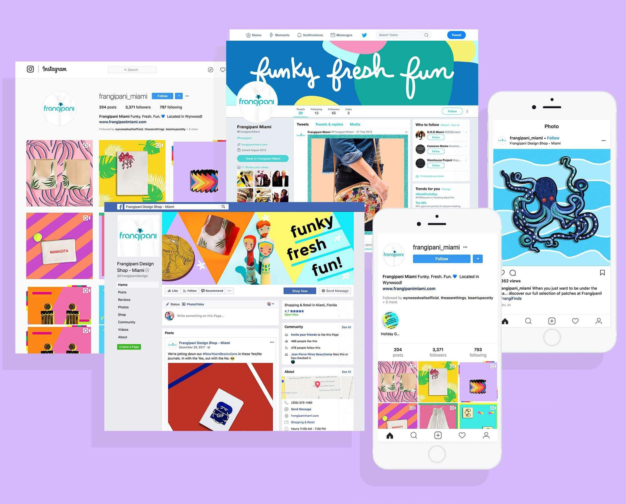 Frangipani social media content creation by Jacober Creative