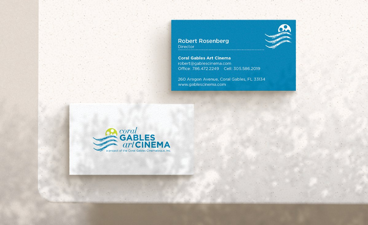 Coral Gables Art Cinema Business Cards