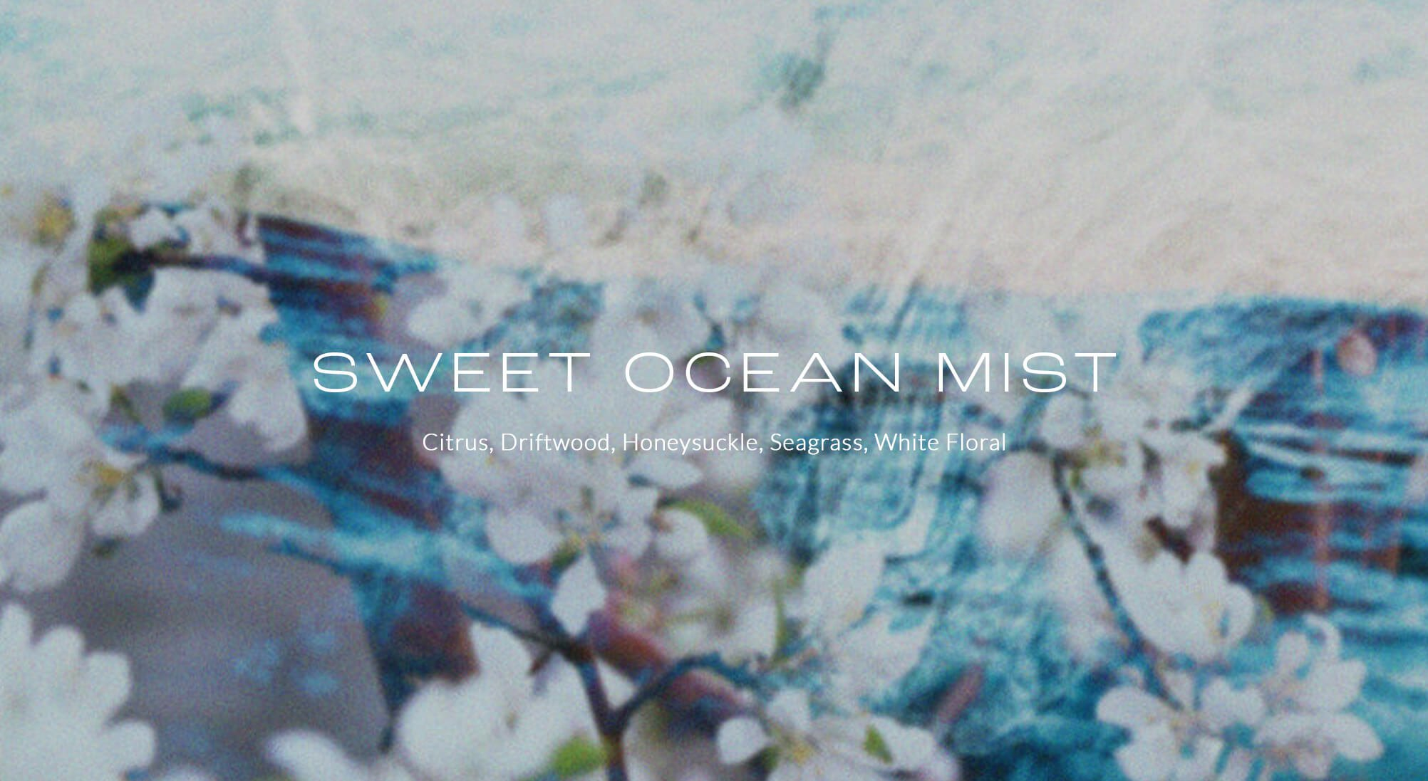 Jacober Creative Brand Identity for Scent 714 Custom Fragrances. Photo of imagery art direction for the fragrance Sweet Ocean Mist