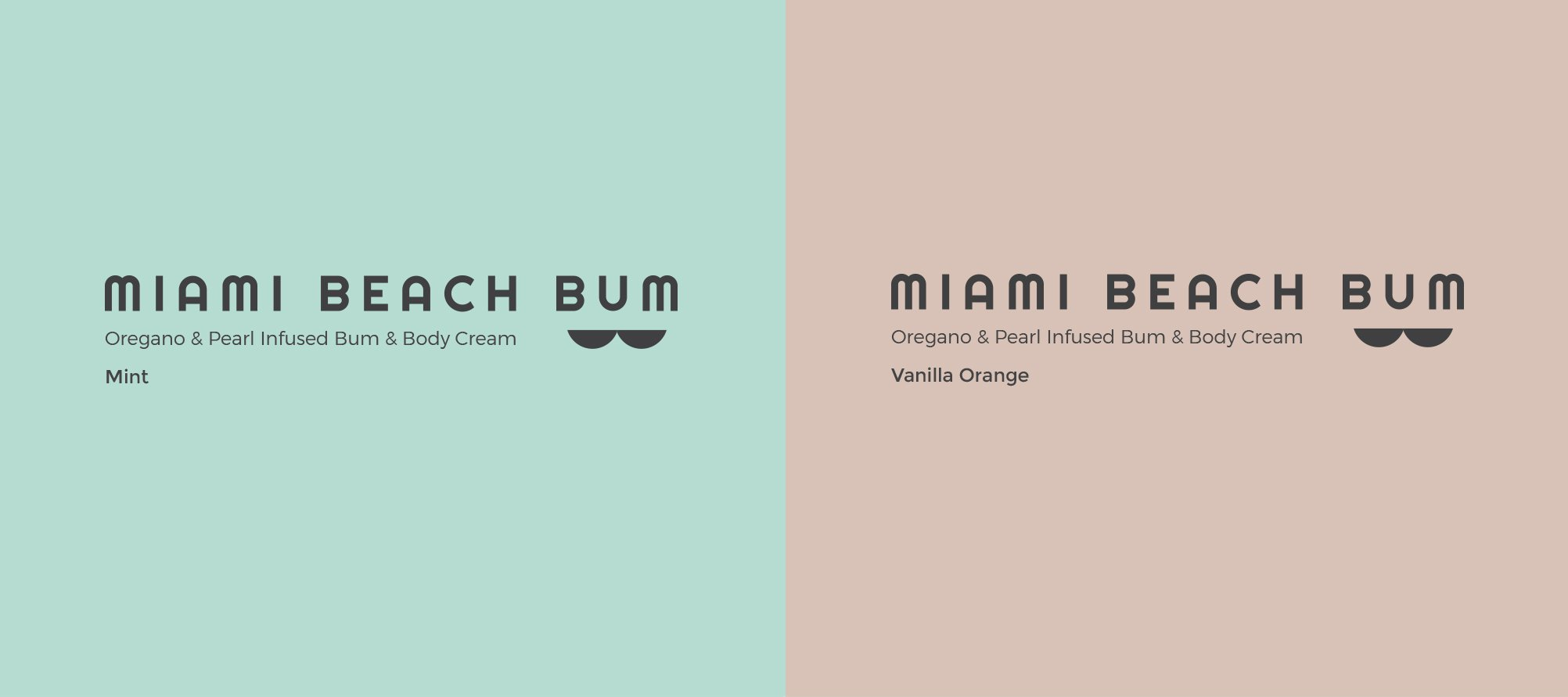Miami Beach Bum Label Mint and Vanilla Orange